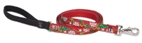 "Retired Lupine 3/4"" Christmas Cheer 4' Padded Handle Leash"