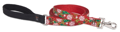 "Holiday LupinePet 1"" Christmas Cheer 6' Padded Handle Leash - Large Dog"