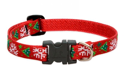 "Lupine 1/2"" Christmas Cheer 8-12"" Adjustable Collar - Small Dog"