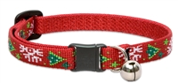 LupinePet Christmas Cheer Safety Cat Collar with Bell