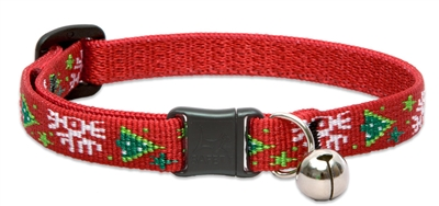 "Lupine 1/2"" Christmas Cheer Cat Safety Collar with Bell"
