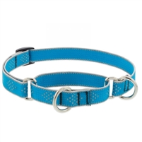 "Lupine High Lights 3/4"" Blue Diamond 10-14"" Martingale Training Collar"