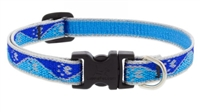 "Lupine High Lights 1/2"" Blue Paws 10-16"" Adjustable Collar"