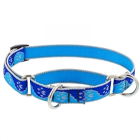 "Lupine High Lights 3/4"" Blue Paws 14-20"" Martingale Training Collar"