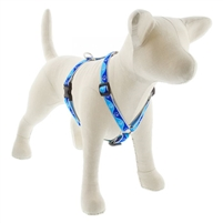 "Lupine High Lights 3/4"" Blue Paws 14-24"" Roman Harness"