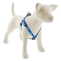 "Lupine High Lights 3/4"" Blue Paws 15-21"" Step-in Harness"