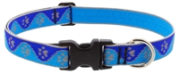 "Lupine High Lights 1"" Blue Paws 16-28"" Adjustable Collar"