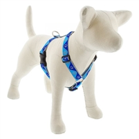 "Lupine High Lights 1"" Blue Paws 24-38"" Roman Harness"