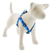 "Lupine High Lights 1"" Blue Paws 24-38"" Step-in Harness"