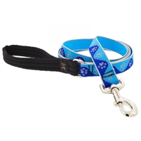 "Lupine High Lights 1"" Blue Paws 4' Padded Handle Leash"