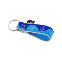 "Lupine High Lights 1"" Blue Paws Keychain"
