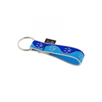 "Lupine High Lights 3/4"" Blue Paws Keychain"