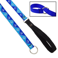 "Lupine High Lights 1"" Blue Paws Slip Lead"