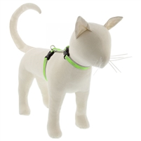 "Lupine High Lights 1/2"" Green Diamond 12-20"" H-Style Cat Harness"