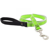 "Lupine High Lights 3/4"" Green Diamond 6' Padded Handle Leash"