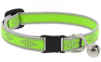 "Lupine High Lights 1/2"" Green Diamond Cat Safety Collar with Bell"