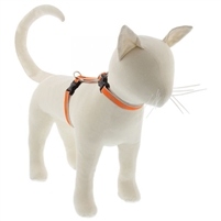 "Lupine High Lights 1/2"" Orange Diamond 12-20"" H-Style Cat Harness"