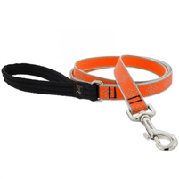 "Lupine High Lights 3/4"" Orange Diamond 4' Padded Handle Leash"