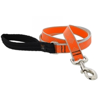 "Lupine High Lights 1"" Orange Diamond 6' Padded Handle Leash"