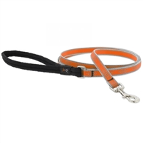 "Lupine High Lights 1/2"" Orange Diamond 6' Padded Handle Leash"