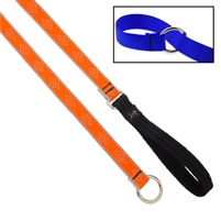 "Lupine High Lights 3/4"" Orange Diamond Slip Lead - Medium Dog"