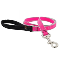 "Lupine High Lights 3/4"" Pink Diamond 4' Padded Handle Leash"