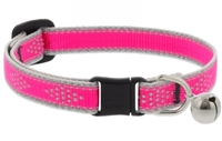 "Lupine High Lights 1/2"" Pink Diamond Cat Safety Collar with Bell"