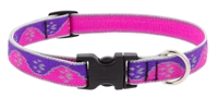 "Lupine High Lights 3/4"" Pink Paws 15-25"" Adjustable Collar"