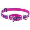 "Lupine High Lights 1"" Pink Paws 19-27"" Martingale Training Collar"