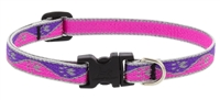 "Lupine High Lights 1/2"" Pink Paws 8-12"" Adjustable Collar"