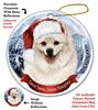 American Eskimo Holiday Ornament - Made in the USA