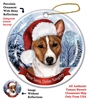 Basenji (Red & White) Holiday Ornament - Made in the USA