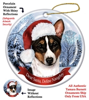 Basenji (Tri) Holiday Ornament - Made in the USA