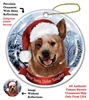 Australian Cattle Dog (Red) Holiday Ornament - Made in the USA