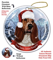Bassett Holiday Ornament - Made in the USA