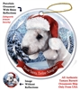 Bedlington Terrier (Blue) Holiday Ornament - Made in the USA