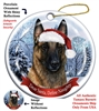 Belgian Malinois Holiday Ornament - Made in the USA