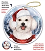 Bichon Frise Holiday Ornament - Made in the USA