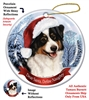 Australian Shepherd (Black Tri) Holiday Ornament - Made in the USA