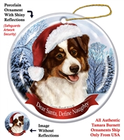 Australian Shepherd (Red Tri) Holiday Ornament - Made in the USA
