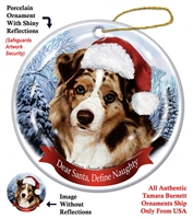 Australian Shepherd (Red Merle) Holiday Ornament - Made in the USA