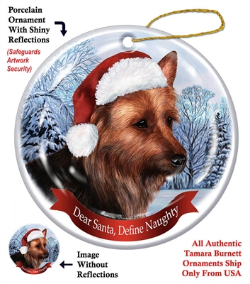 Australian Terrier Holiday Ornament - Made in the USA