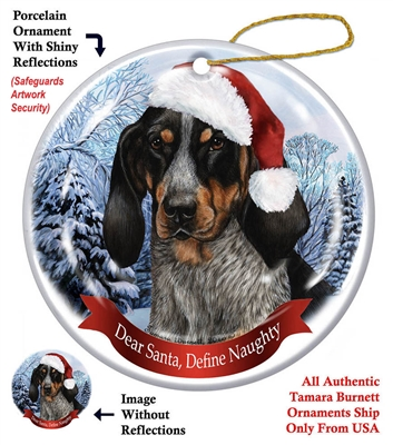 Coonhound (Blue Tick) Holiday Ornament - Made in the USA