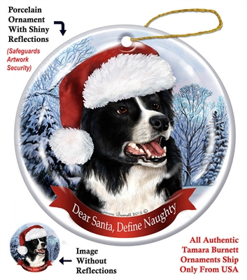 Border Collie Holiday Ornament - Made in the USA