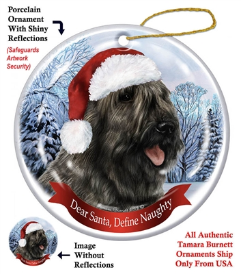 Bouvier (Grey) Holiday Ornament - Made in the USA
