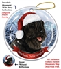 Bouvier (Black) Holiday Ornament - Made in the USA