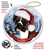 Boxer (Uncropped) Brindle Holiday Ornament - Made in the USA