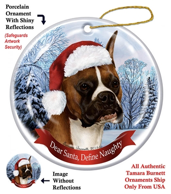 Boxer (Cropped) Holiday Ornament - Made in the USA