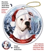 Boxer White Holiday Ornament - Made in the USA