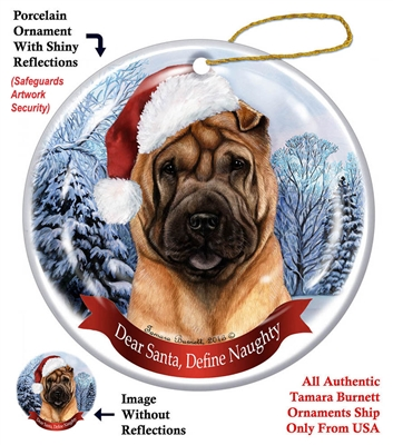 Shar Pei (Fawn) Holiday Ornament - Made in the USA